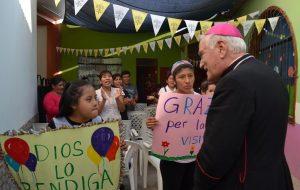 """Visita del Nuncio Apostólico Mons. Nicola Girasoli al Centro de Estimulación y Terapia para niños con discapacidad """"San José Misericordioso"""""""