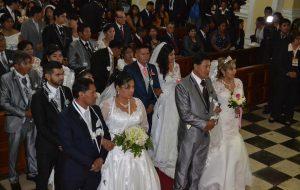 Matrimonio Comunitario Religioso en Catedral de Tacna