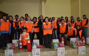 Juramentaron brigadas de prevención de desastres